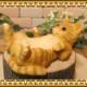 猫の置物 ネコトレー チャトラ ねこ キャット レジン製ネコのフィギア 猫のオブジェ ガーデニング◇お部屋のインテリアにガーデニングの素材に