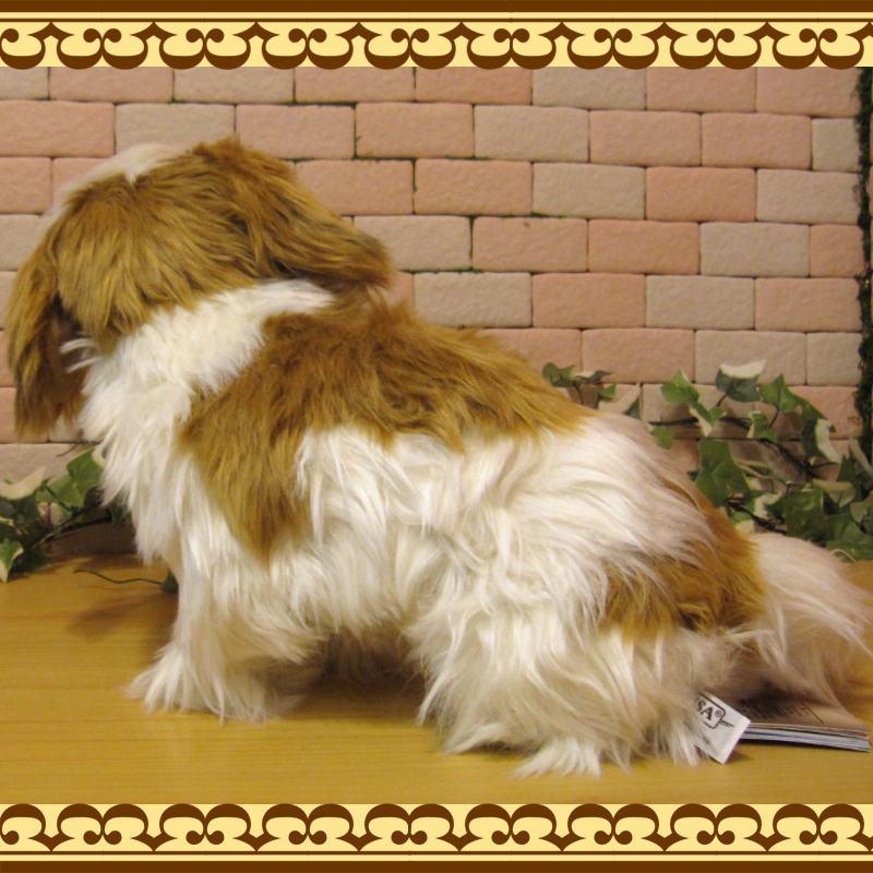 ◇リアルな犬のぬいぐるみ シーズー ドッグオブジェ いぬの置物 イヌのフィギュア インテリア
