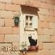 木製の可愛い 猫のインテリアサイン オーナメント キャットカフェ ネコオブジェ アンティーク調 壁掛け インテリアアート