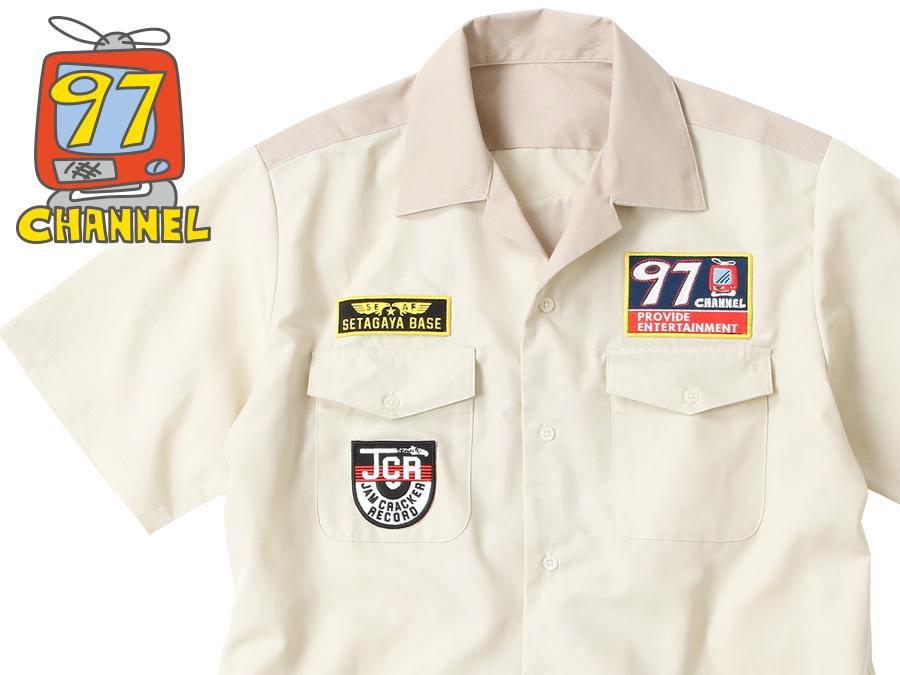 97CHANNEL ツートンカラー・ワークシャツ ベージュ / 世田谷ベース