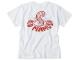 RED MAMUSHI Tシャツ / ホワイト×レッドロゴ