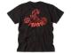 RED MAMUSHI Tシャツ / ブラック×レッドロゴ