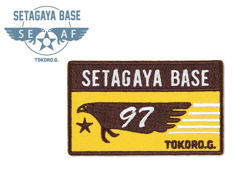世田谷ベース アイロンワッペン R /  バード オレンジ