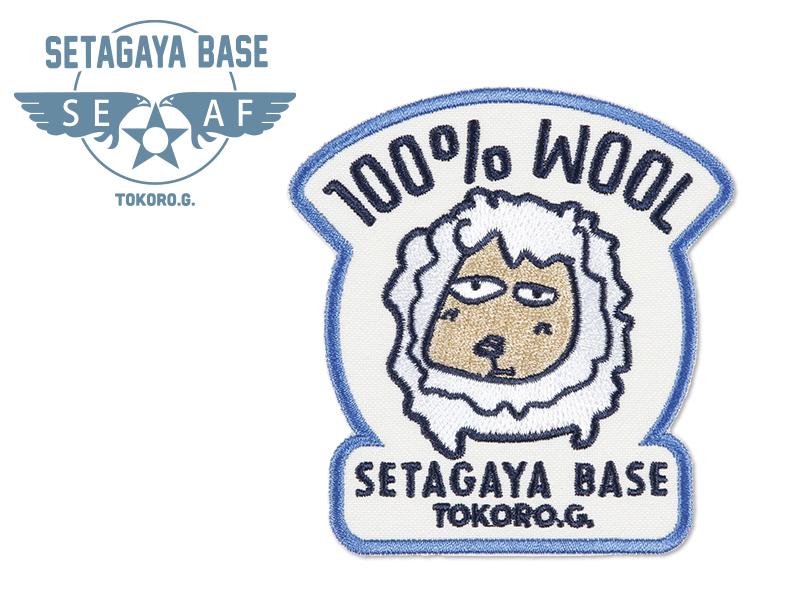 世田谷ベース アイロンワッペン T / 100%WOOL ホワイト