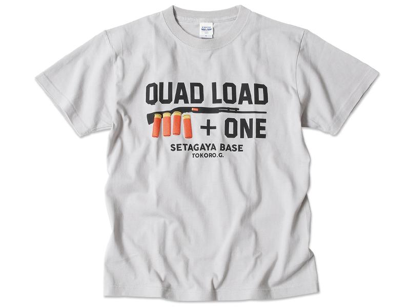 QUAD LOAD ショットガンTシャツ ライトグレー / 世田谷ベース