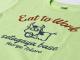 Eat to Work 米食労喜Tシャツ ライムグリーン背中ロゴ / 世田谷ベース