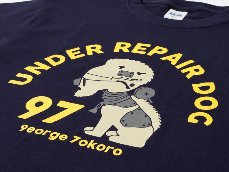 アンダー・リペアドッグTシャツ ネイビー/世田谷ベース