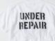 世田谷ベース アンダーリペアTシャツ / ホワイト×ブラックプリント