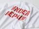 世田谷ベース アンダーリペアTシャツ / ホワイト×レッドプリント