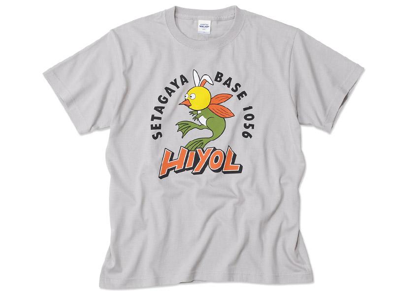 ヒヨエルゴキウサギ Tシャツ Aタイプ  ライトグレー / 世田谷ベース