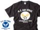 所さんの世田谷ベース エアフォースTシャツ / カラーロゴ(チャコールボディ)