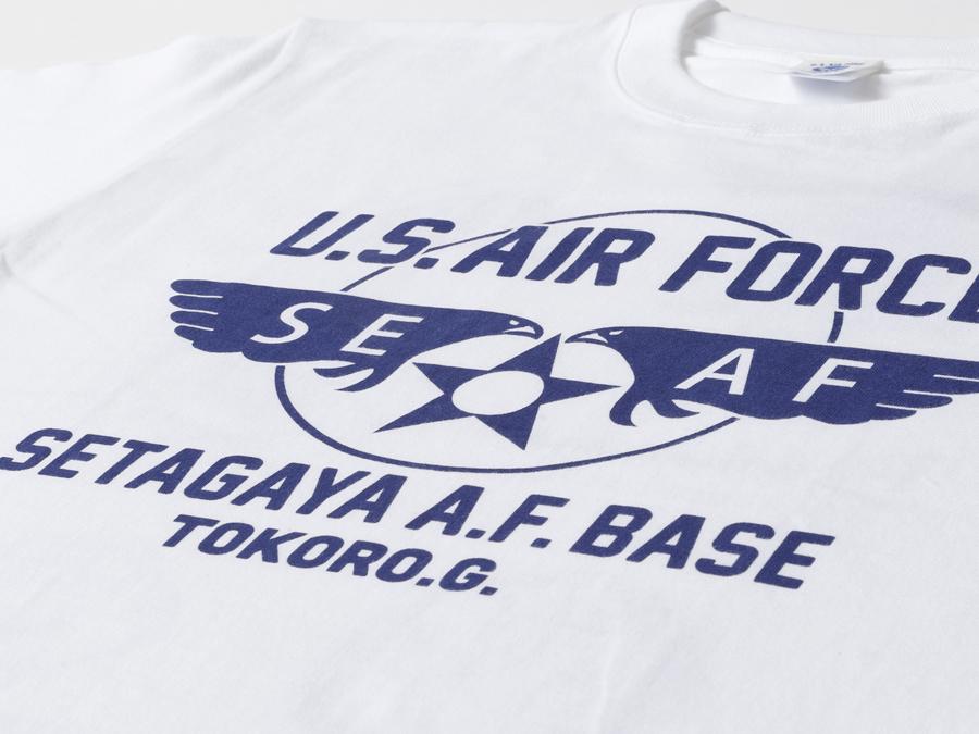 所さんの世田谷ベース ニューエアフォースTシャツ / スペシャルVer. ホワイトボディ