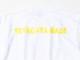 横たわる喜び Tシャツ ホワイト×蛍光イエロー / 世田谷ベース