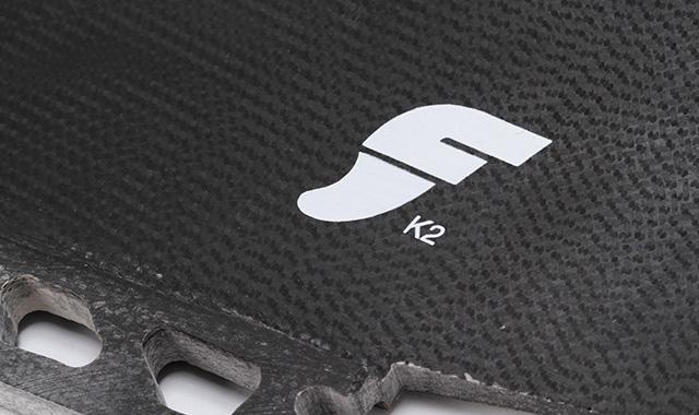 futures FK2 2FIN FIBERGLASS(スモーク)