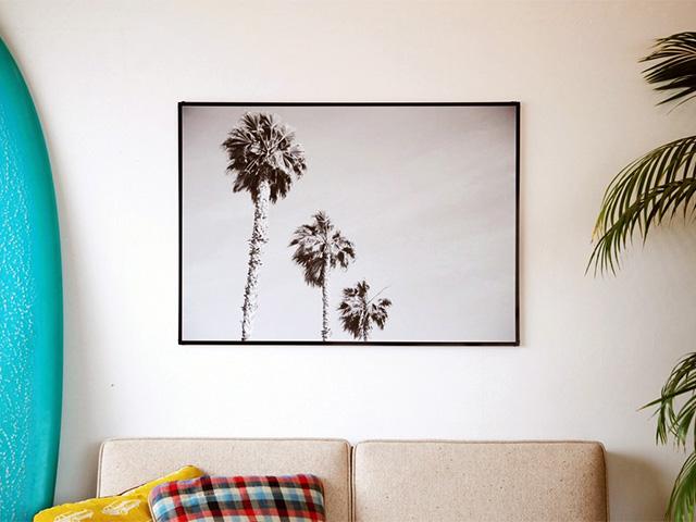 Blue.オリジナル Photo&Frame 「Palm Tree 1」 Lサイズ
