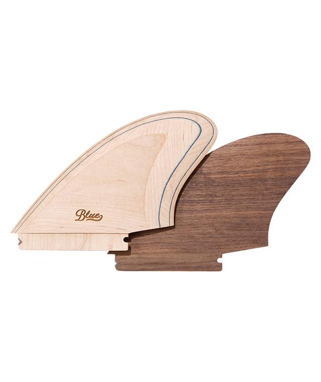 【受注生産品】nobbywood surfboards×Blue. ハンドメイド ウッドキールフィン