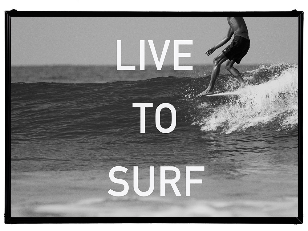 Blue.オリジナル Photo&Frame 「LIVE TO SURF」 Sサイズ