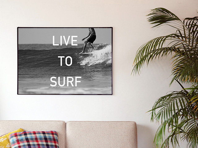 Blue.オリジナル Photo&Frame 「LIVE TO SURF」 Lサイズ