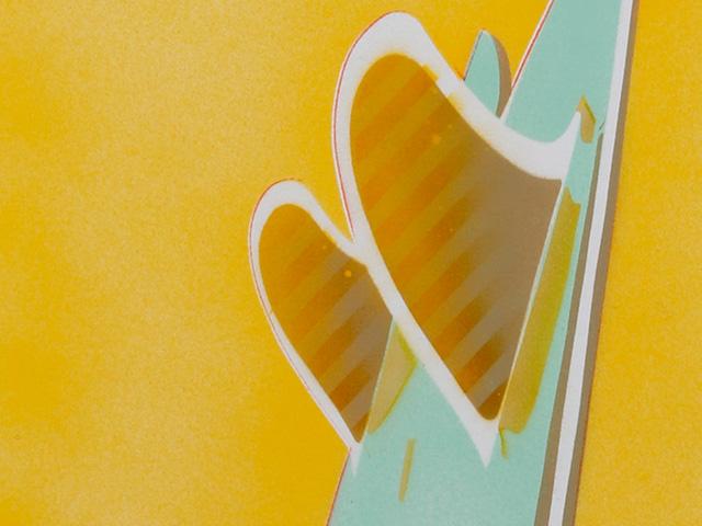 赤池完介×Blue. サーフボード・ステンシルアート ツインフィン 【受注生産品】