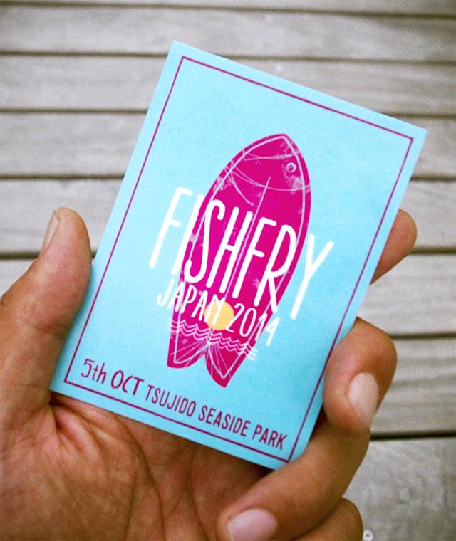 FISHFRY JAPAN 2014 オリジナルTシャツ&ステッカーセット