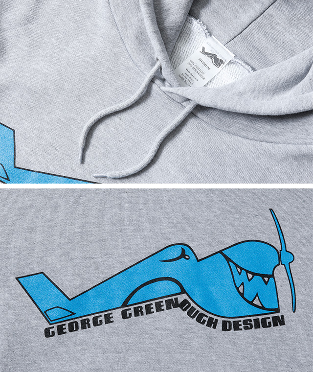 George Greenough×Blue. スウェットパーカ
