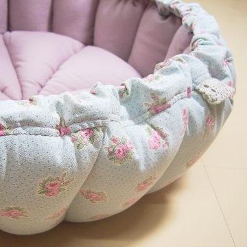 かぼちゃstyle猫ベッド・YUWAハーフリネン+綿麻