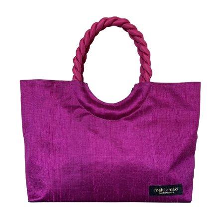 カンボジアシルク ハンドバッグ