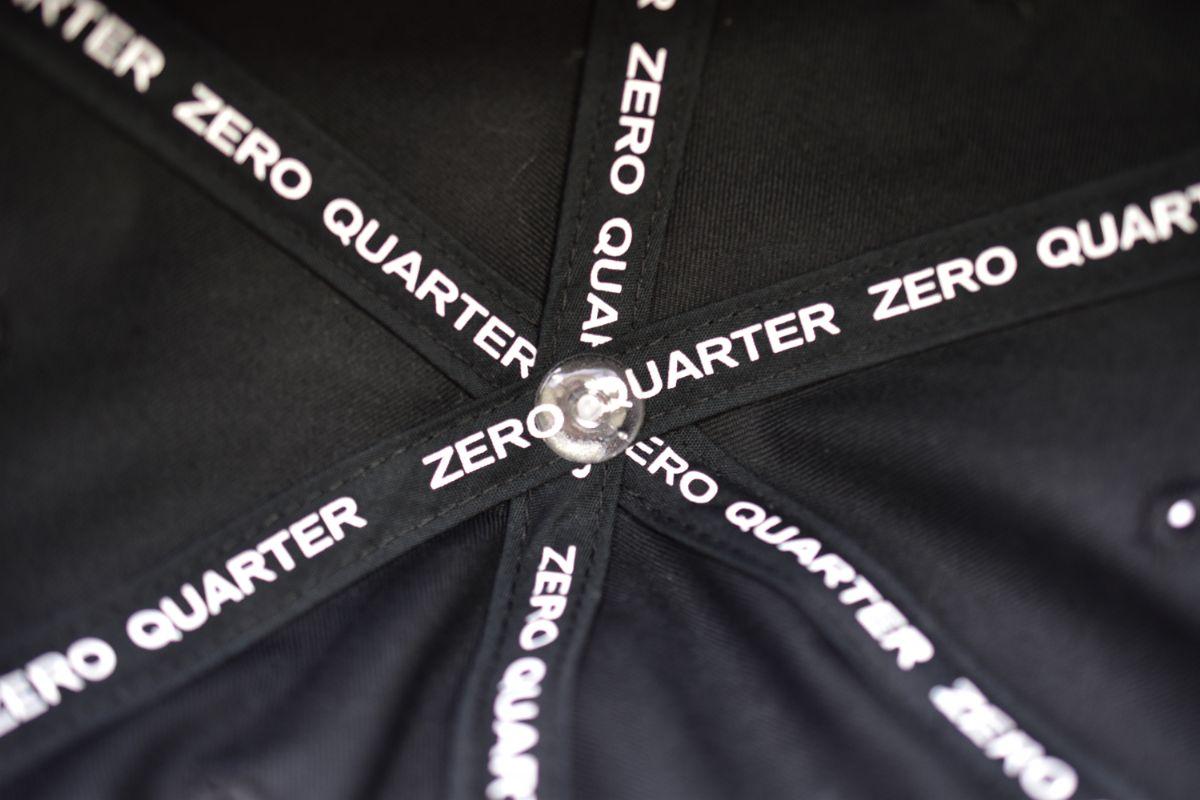 ZQ LOGO 6PANEL CAP(キャップ メンズ レディース)【ZERO QUARTER MAIDE IN JAPAN SHOP】