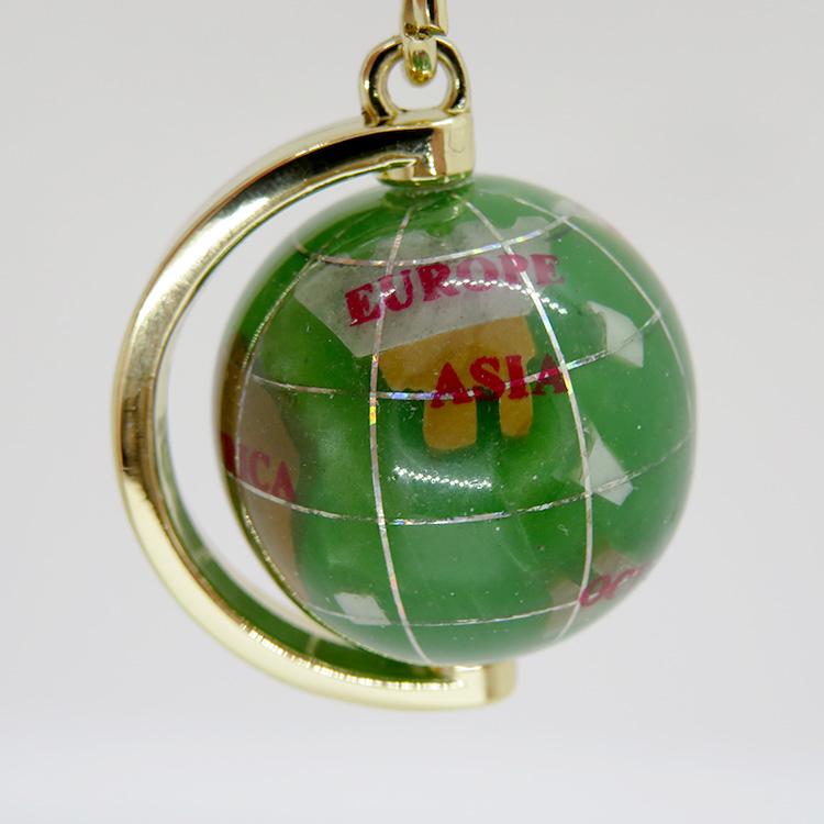 地球儀キーホルダー 緑【ushitora】