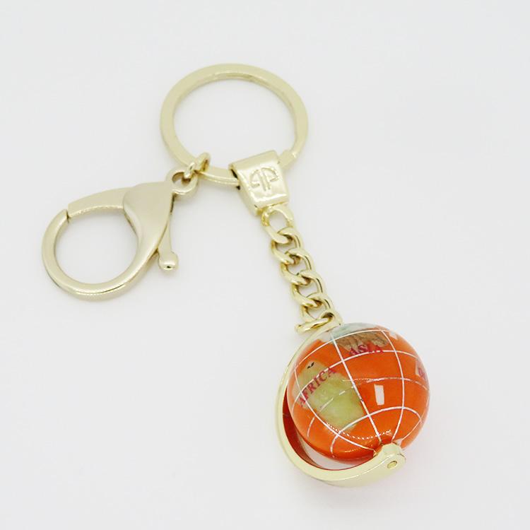 地球儀キーホルダー オレンジ【ushitora】