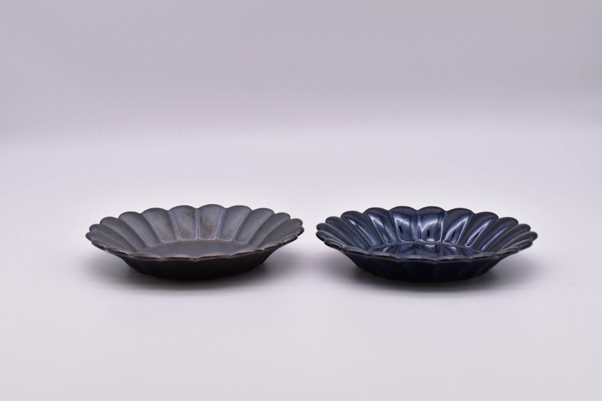 poterieラウンドプレートS美濃焼/日本製/03ブルー【自分の時間】