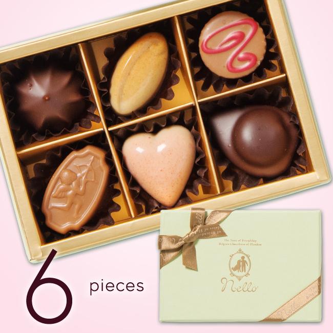 ベルギーチョコレート プラリネアソート 6個入り