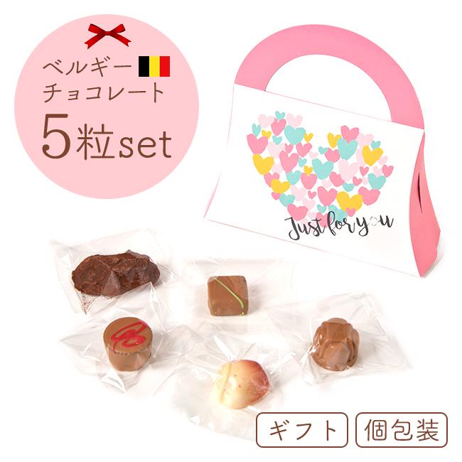 ベルギーチョコレート ミニバッグ(5個入り)