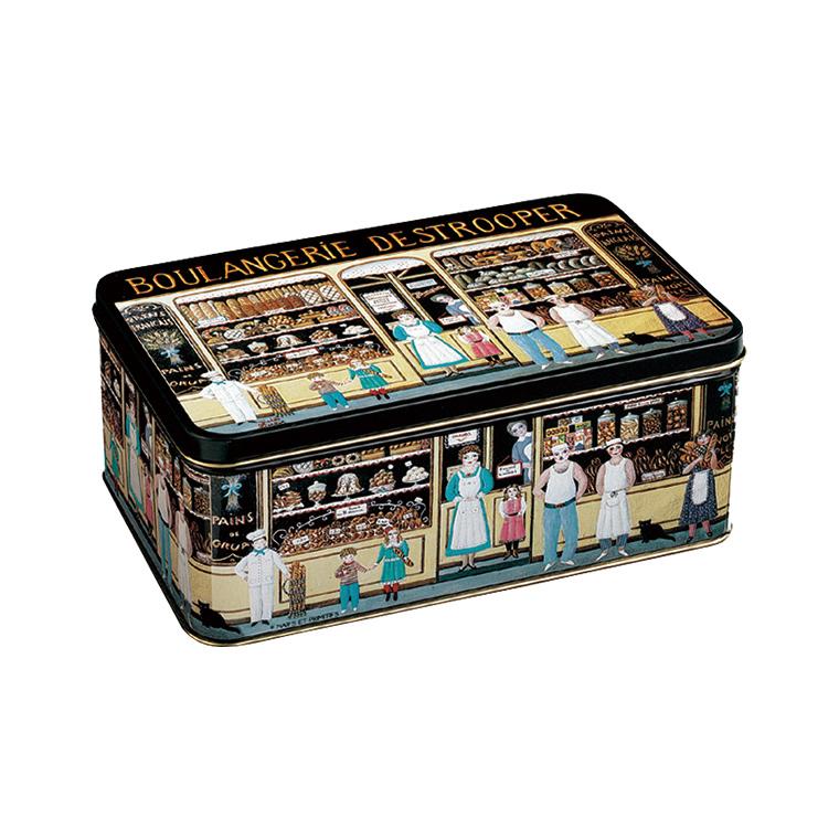 ジュールスデストルーパー ベーカリー缶 383g(バタークリスプ20枚・アーモンドシン40枚)
