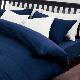 西川リビング ホテル仕様 ルクトベッドフィッティパックシーツ サテンストライプ