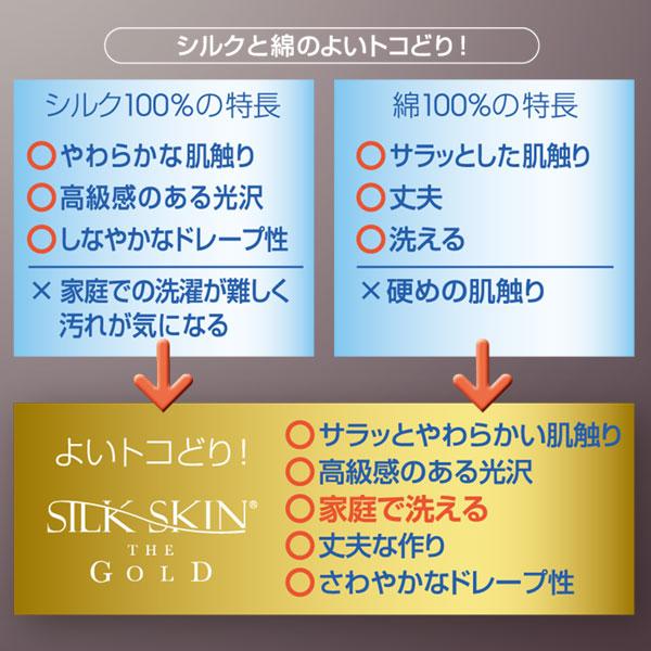 高級シルク寝具シルクスキン・ザ・ゴールド 肌掛け布団