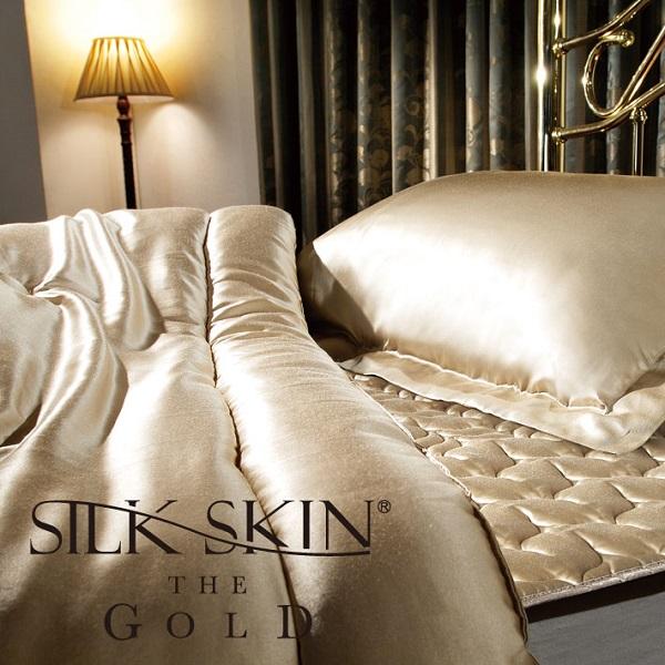 高級シルク寝具シルクスキン・ザ・ゴールド敷きパッド