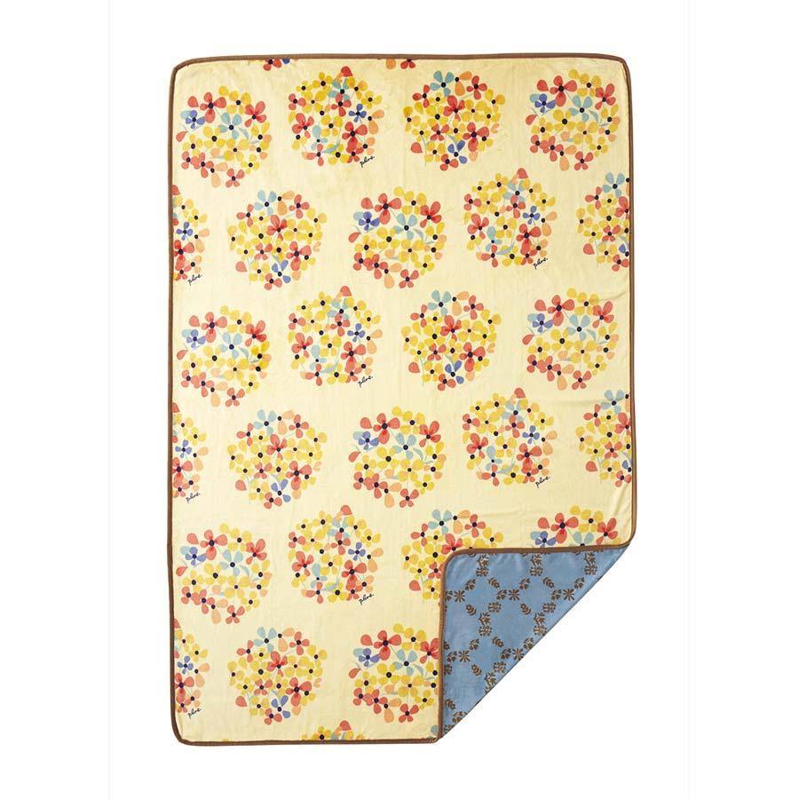 plune(プルーン)おしゃれな両面プリント掛け毛布ブーケお花