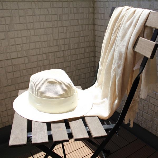 FUJITAKA 日本製ストール infine(インフィーネ) シャンブレーカラ—