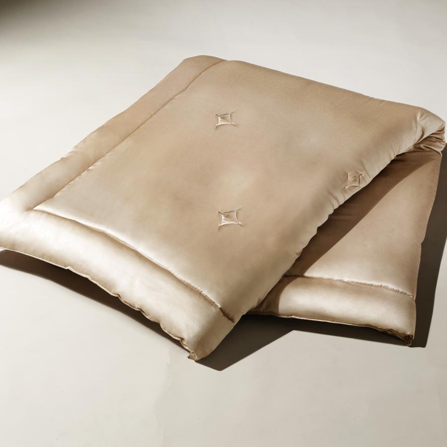 洗えるシルク布団 シルクスキン・ザ・ゴールド2 肌掛け布団 シャンパンゴールド