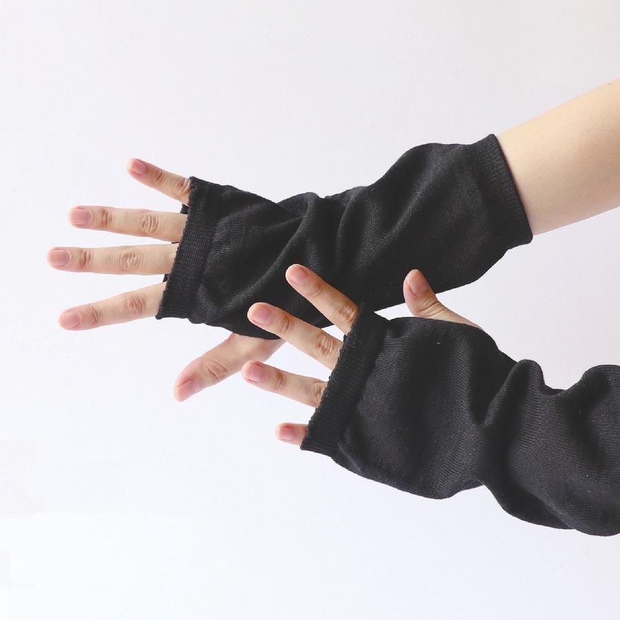 絹屋 綿麻シルク アームカバー ショートサイズ UVカット