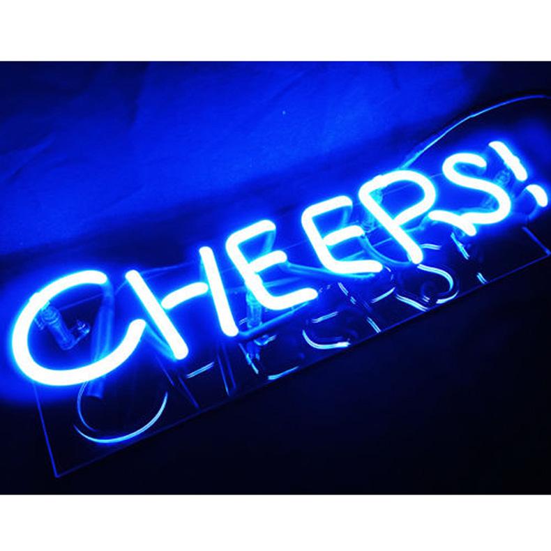 ネオン サイン、『CHEERS』NEON SIGNネオン管、ディスプレイ ボード、カフェ、喫茶店、広告用看板、クラブ及び娯楽場所等 インテリア、アメリカン雑貨TN051