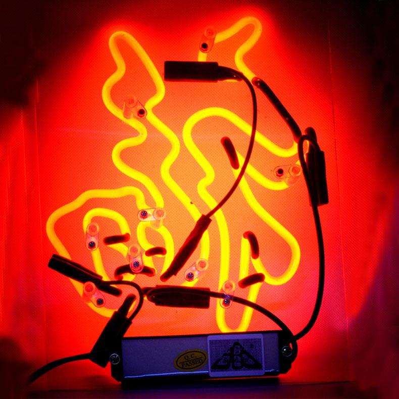 ネオン サイン、『福』NEON SIGNネオン管、ディスプレイ ボード、カフェ、喫茶店、広告用看板、クラブ及び娯楽場所等 インテリア アメリカン雑貨 25.4*20.3cm