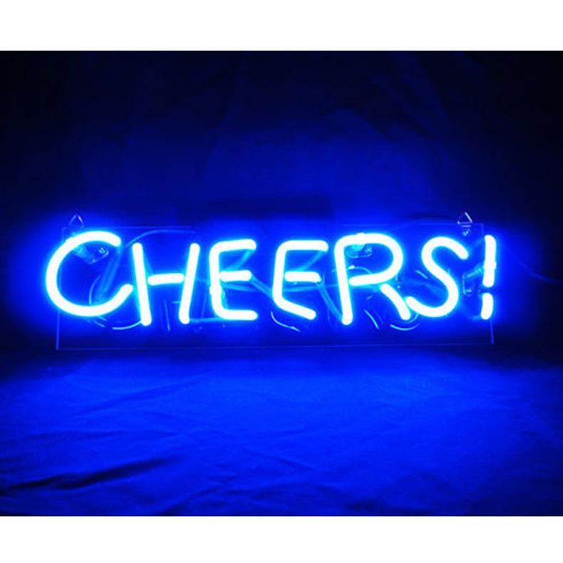 ネオン サイン、『CHEERS』NEON SIGNネオン管、ディスプレイ ボード、カフェ、喫茶店、広告用看板、クラブ及び娯楽場所等 インテリア アメリカン雑貨 33*10.3cm