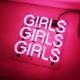 ネオン サイン、『GIRLS』NEON SIGNネオン管、ディスプレイ ボード、カフェ、喫茶店、広告用看板、クラブ及び娯楽場所等 インテリア アメリカン雑貨 25.4*20.3cm