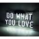 ネオン サイン 『 DO WHAT YOU LOVE』NEON SIGNネオン管、ディスプレイ ボード、カフェ、喫茶店、広告用看板、クラブ及び娯楽場所等 インテリア アメリカン雑貨 35.5*17.8cm
