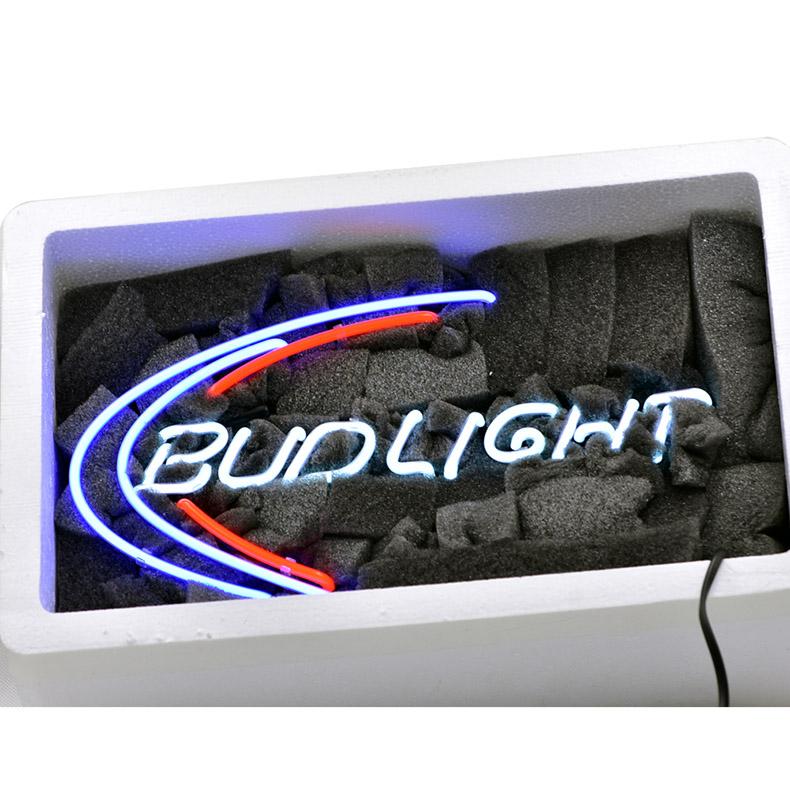 ネオン サイン、『BUD LIGHT』NEON SIGNネオン管、ディスプレイ ボード、カフェ、喫茶店、広告用看板、クラブ及び娯楽場所等 インテリア アメリカン雑貨 38.1*25.4cm