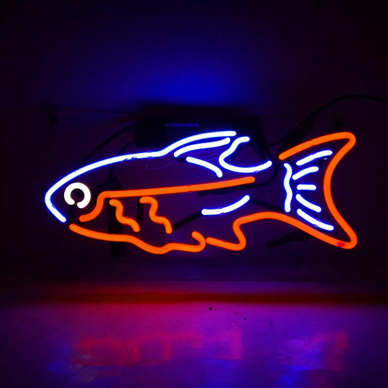ネオン サイン、『TN160鱼』NEON SIGNネオン管、ディスプレイ ボード、カフェ、喫茶店、広告用看板、クラブ及び娯楽場所等 インテリア アメリカン雑貨 38.1*25.4cm