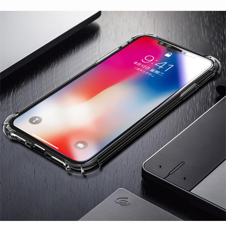 iPhone 6G/6s カバー ケース 高透明TPU 携帯電話 用 四隅 エアクッション バンパー スマホ 傷つけ 防止 保護(クリア)