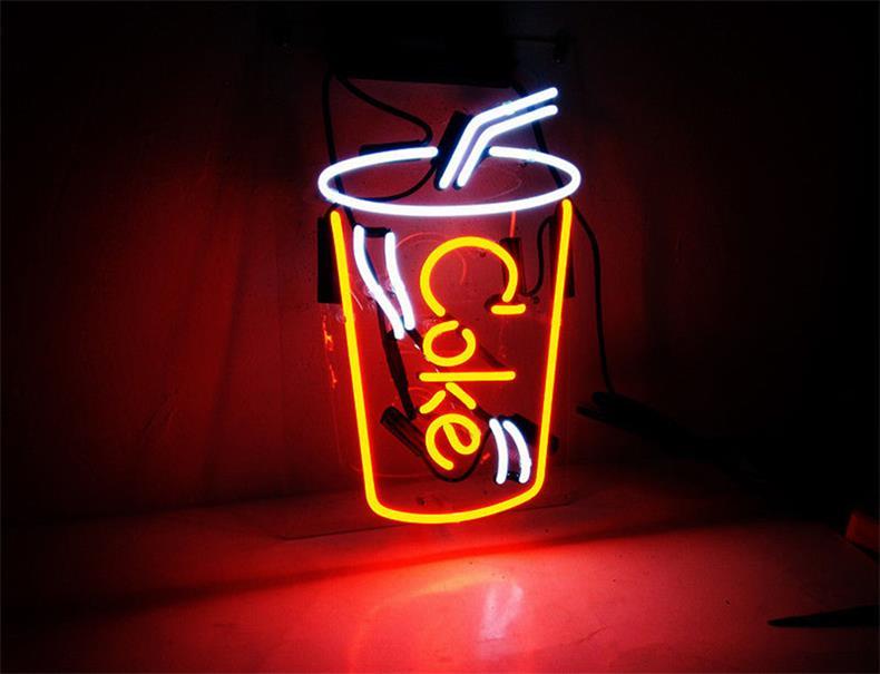 ネオン サイン、『coke cup』NEON SIGNネオン管、ディスプレイ ボード、カフェ、喫茶店、広告用看板、クラブ及び娯楽場所等 インテリア、アメリカン雑貨7*12インチ 赤い白い